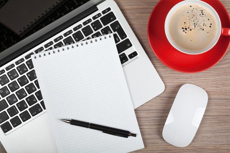 Schreiben mit Kaffee