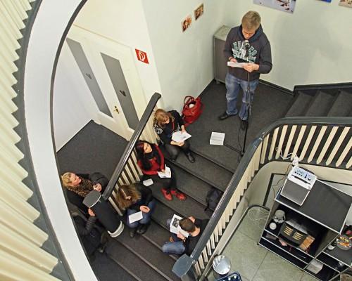 Die Studierenden lesen...